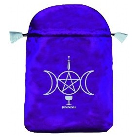 Bourse velours violet wicca