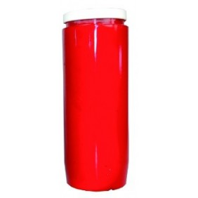 Lampe de sanctuaire huile végétale - Rouge