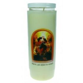 Lampe sanctuaire Marie qui défait les noeuds colorée