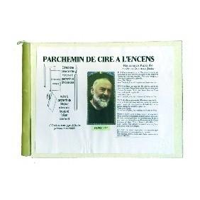 Parchemin de cire à l'encens - Padre Pio