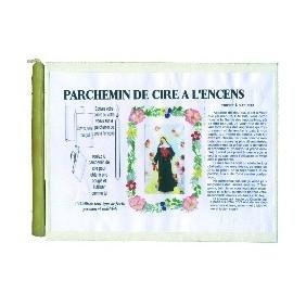 Parchemin de cire à l'encens - Sainte Rita