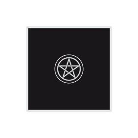 Tapis noir 80 x 80 cm Pentacle