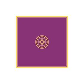 Tapis violet 80 x 80 cm - Ésotérique