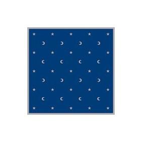 Tapis bleu 80 x 80 cm - Lunes et étoiles