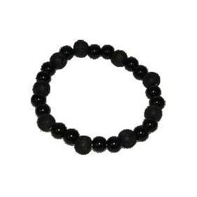 Bracelet perles de karma onyx et bois noir