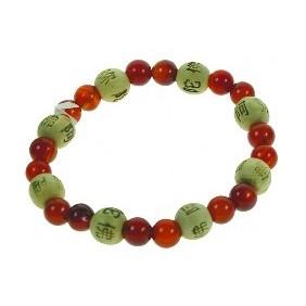 Bracelet perles de karma - Cornaline