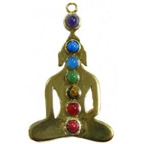 Pendentif yogi 7 chakras