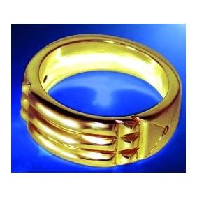 Bague Égyptienne - plaqué or - taille 54