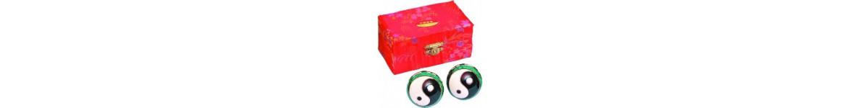 Articles de Freng Shui - Boules de Gi-Gong (Qi-Gong) - Grenouille de la fortune
